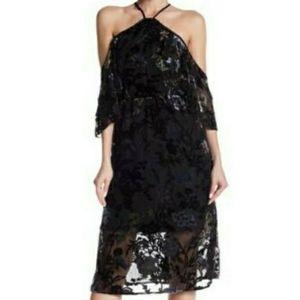 ABS By Allen Schwartz Women's Black Velvet Dress